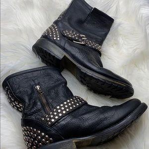 Steve Madden Shoes - Steve Madden Fraankie Studded Boots Sz 9.5
